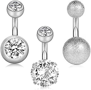 Best bottom belly button rings Reviews