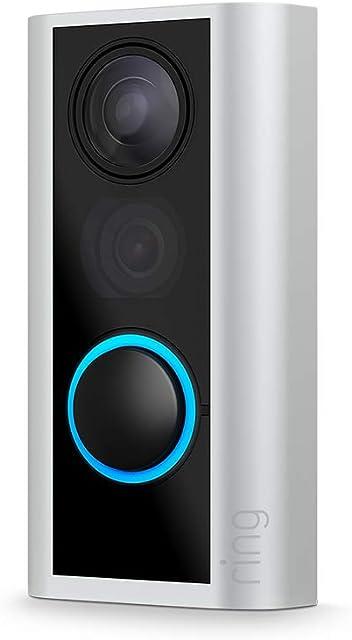 Ring Door View Cam | El videotimbre que sustituye tu mirilla con vídeo HD 1080p y comunicación bidireccional | Para puertas con un grosor de 34 a 55 mm