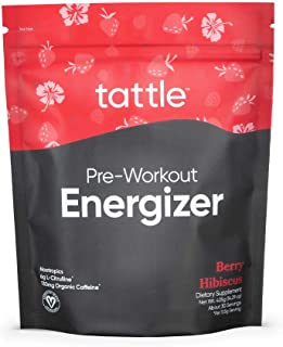 Tattle Natural Pre-Workout Powder - All Natural, Nootropics, Nitric Oxide & Organic Caffeine for Focus, Endurance & Energy...