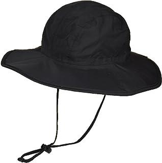 マウンテンハンター 防水 撥水 サファリハット upf50 uv カット ひも付き つば広 レインハット 帽子 折りたたみ ハット