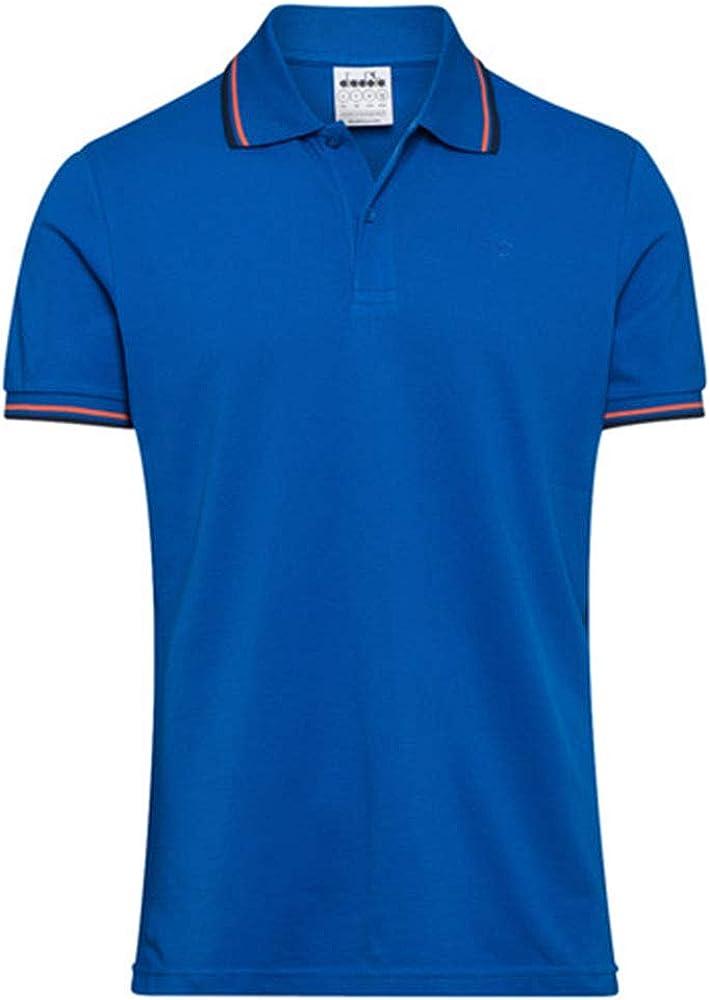 Diadora ss polo , maglietta maniche corte per uomo , 100% cotone 102.177175C