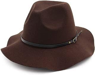 Lei Zhang Fashion Women Men Fedora Hat Wide Brim Hat Vintage Jazz Hat Outdoor Travel Hat