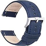 Cinturini in Pelle a Sgancio Rapido Cinturino per Orologio - Cinturino in Vera Pelle di Ricambio di Ricambio per Uomo e Donna, Orologi e Smartwatch - 16mm 18mm 19mm 20mm 22mm