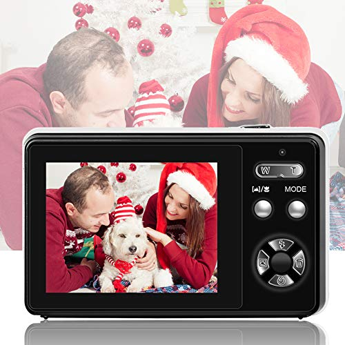 YinFun Digitalkamera Fotoapparat Digitalkamera 24 Megapixel Mini Digitalkamera 2,4-Zoll-Bildschirmkamera mit Digitalzoom-Makro-Kompaktkameras(Schwarz)