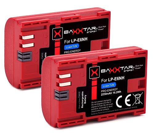 Baxxtar 2X Pro Akku LP-E6NH (2250mAh) auch kompatibel mit Canon R5 R6