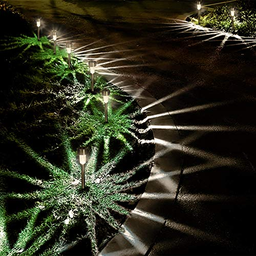 Dream Master Solar Lights Outdoor, Stainless Steel LED Landscape Lighting Solar Powered Outdoor Lights Solar Garden Lights for Pathway, Walkway, Patio, Yard, Lawn - 12 Pack(Warm White)