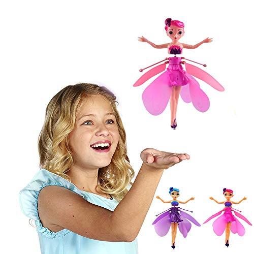 2 Stück Ballett Mädchen Die Fliegende Fee Flügel Puppe Spielzeug,Tragbare Mini Flugzeuge Miniatur...