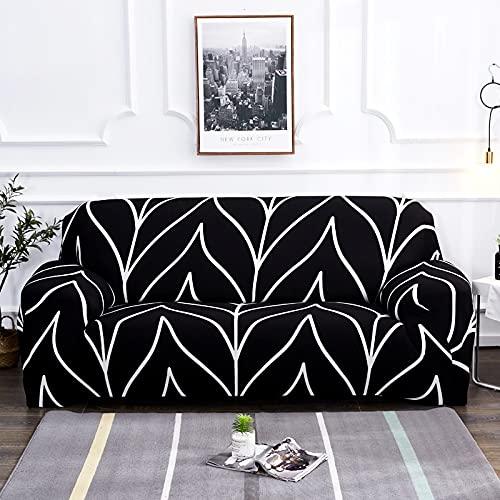 MKQB Funda de sofá elástica con impresión para Sala de Estar, Funda de sofá con combinación de Esquina en Forma de L, Funda de sofá Antideslizante con Envoltura hermética NO.9 L (190-230cm)