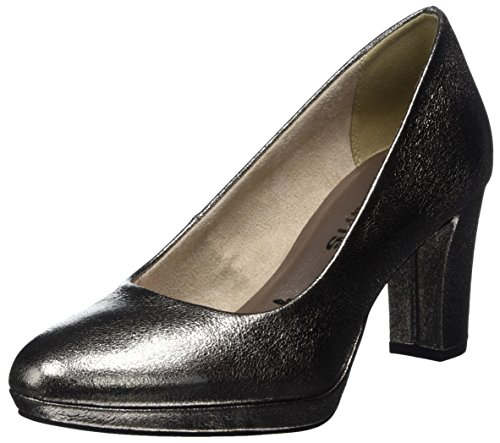 Tamaris Damen 22420 Pumps, silber, 39 EU