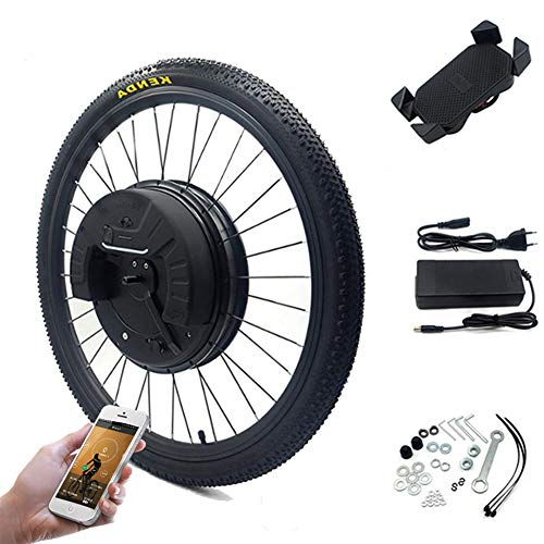 JUE SHUAI imortor 3.0 Electric Bike Motor Wheel All in One 36V 350Watts with 7.2Ah Lithium Battery 700C Ebike E Bike Conversion Kit Electric Bicycle Disc Brake