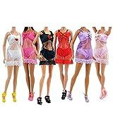 8 Stück Barbie Puppen Unterwäsche Nachtwäsche Unterwäsche Bekleidung Bündel 3P