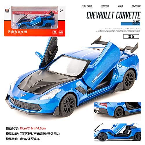 Ezyz Pull Back Cars Toy Vehicles Toy,1:32 Alloy Inertial Sports Car Mould Docoration for Children Adults Blue -  toytez-LLX-190904-26C503B9D7