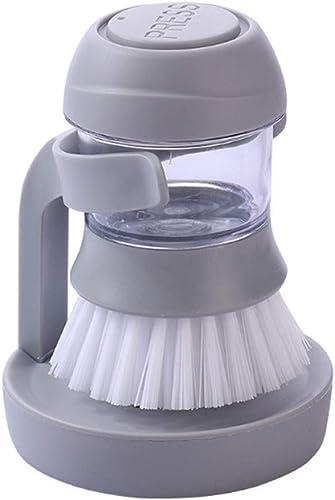 Jeval Liquid Soap Dispenser Palm Brush With Storage Stand For Kitchen Bathroom Tiles Dishwashing Self Dispensing Home Cleaning Set Sink Sponge Holder Plastic