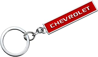 Aimoll car Logo Key Chain Chrome Finished Aluminum Key-Ring for Chevrolet (Red)