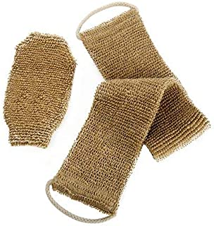 100% Natural Exfoliating Hemp Back Scrubber, Bath &