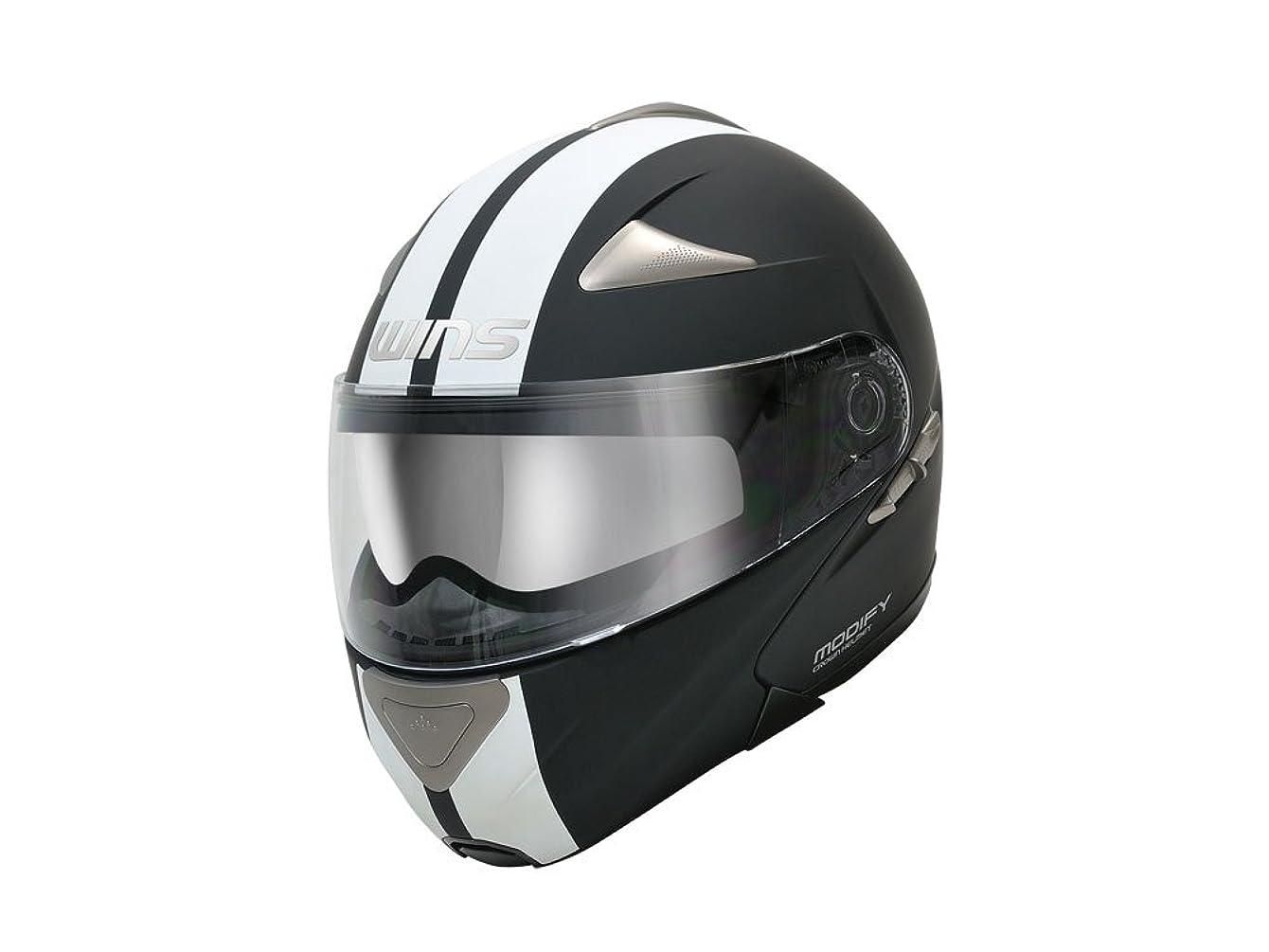 幻滅する上回る空いているウインズジャパン ( WINS JAPAN )  フルフェイス ヘルメット MODIFY GT STRIPE マットブラック×ホワイトL 142