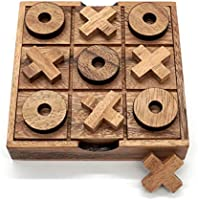 Tic Tac Toe Wood Coffee Tables Family Games to Play and a Classic Game Home Decor for Living Room Rustic Table Decor and...