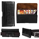 Gorilla Tech Black Leather Belt Pouch Case Holster,