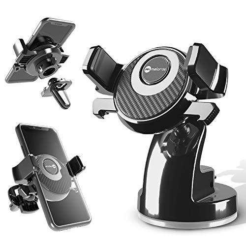 Handyhalter fürs Auto 3 in 1 Armaturenbrett Handyhalterung Lüftung & Saugnapf Halter 100% Silikonschutz Smartphone Halterung Auto für iPhone Samsung Huawei LG OnePlus Xiaomi - andere Smartphone