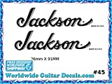 Jackson Guitar Decal Headstock Waterslide Restoration logo 45