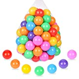 TrendBox 100 Ball Pit Balls Bright Colors Ocean Ball Soft Plastic Balls for Babies Kids Children ( Without Balloons)