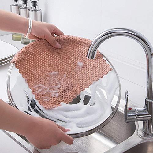 HONGIRT - Juego de 3 toallas de limpieza para el hogar, de microfibra, absorbentes de agua, antiestáticas