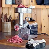 Weston 0.75 HP Pro Series #8 Meat Grinder, Silver