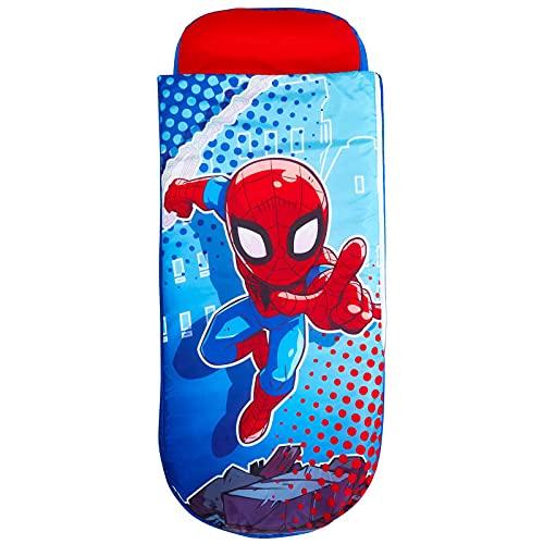Worlds Apart Marvel Superheroes Spider-Man-Junior-ReadyBed – Kinder-Schlafsack und Luftbett in einem, Multicoloured, Größe (LxBxH): 150 x 62 x 20cm