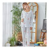HAOLIEQUAN Autumn Long Sleeve Pajamas for Women Tracksuit Women's Printing Sleepwear Set Student Suit Soft Home Clothes -