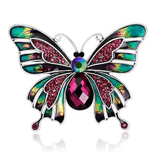 Wicemoon Brooch Forma de Mariposa Doble Broches de Bisuteria Broches de Bisuteria para Ropa
