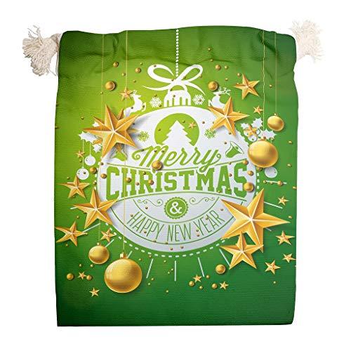 O4EC2-8 6er Pack für 6 Organisieren Lagerung Kordelzug Party Tasche Wiederverwendbar Toy Tasche Anzug für Neujahr Geburtstag Geschenke Wrap Bag - Muster Drucken white 12 * 18cm