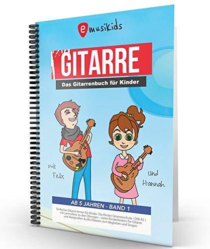 Das kompakte Anfänger Gitarrenbuch für Kinder: Die neue kompakte kindgerechte Gitarrenschule mit vielen Kinderliedern, aktuellen Songs und Lernvideos ... Spiralbindung, inkl. QR-Codes für Lernvideos
