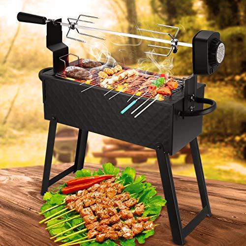 TTLIFE Rotisserie Kit Gebratene Lammkeule Herd Automatischer Haushalt Wiederaufladbar/Batterie Dual Purpose BBQ Klappgrill für Party Camping Karneval