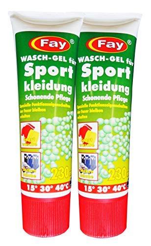 2 x Fay Wasch-Gel für Sportkleidung 230ml, Waschmittel, Wasch-Pulver, Wäschegel