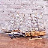 AKAMAS -Modelo de nave, adorno de Navidad Mini crucero, colección de barco pirata, velero, decoración creativa, regalo de cumpleaños, 32 cmsailingpair Baibao