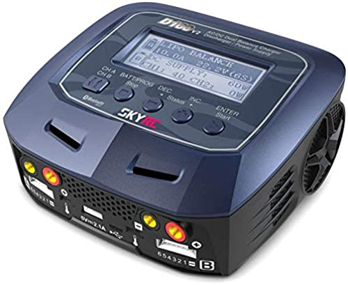 SkyRC Ladeger D100 V2 AC DC DUO LiPo 1-6s 10A 2x100W