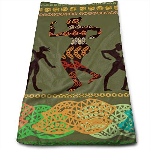 YudoHong Borde panorámico sin Costuras con Bailes de baño aborígenes Toallas de baño Toalla para el hogar/Playa/Yoga