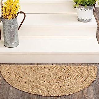 Indian Handmade Natural Jute Front Door Rug Outdoor Welcome Mat Floor Carpet Area Rug Half Circle Jute Rug Front Door Entr...