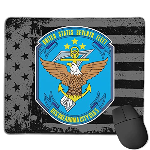 7th Seventh Fleet Navy USS Oklahoma City CLG-5 Computer Mouse Pad Gaming Mouse Pad Office Products