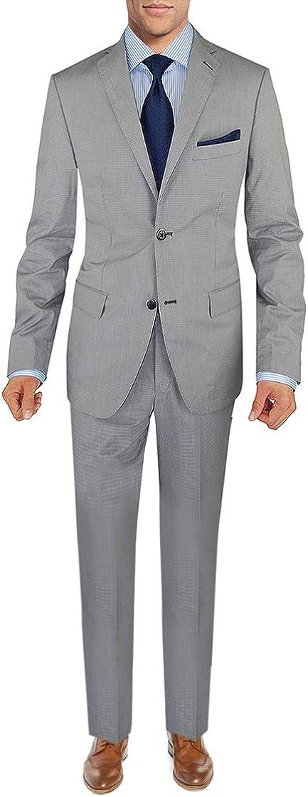 DTI BB Signature Italian Men's Two Button Modern Fit Suit 2 Piece Jacket Pants