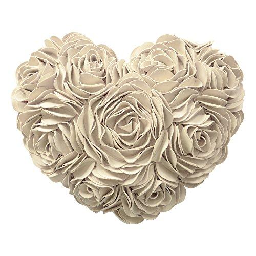 JWH 3d rosas flores cojín lana corazón Floral manta almohada regalo día de la madre Boda amante niña hecho a mano asiento de coche Home almohadas 14x 16inch