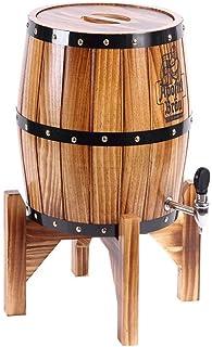 HWhome Tonneaux à Vin Verticaux en Chêne Tonneaux à Vin en Chêne sans Boyau Tonneaux De Vin 3L, Tonneaux De Vin Auto-brass...