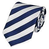 Fabio Farini Schlips Krawatte Krawatten Binder 8cm blau weiß gestreift