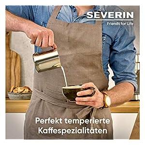 SEVERIN Espresa Plus KA 5995 Espressomaschine (ca. 1350 W, massiver und professioneller Siebträger inkl. ideale Starterset und Manometer, einstellbare Temperatur und speicherbare Tassenfüllmenge)