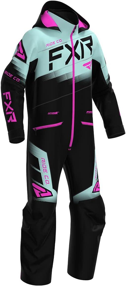 FXR Youth Boost Monosuit Black - Pink 14 Award Seafoam Electric Sales