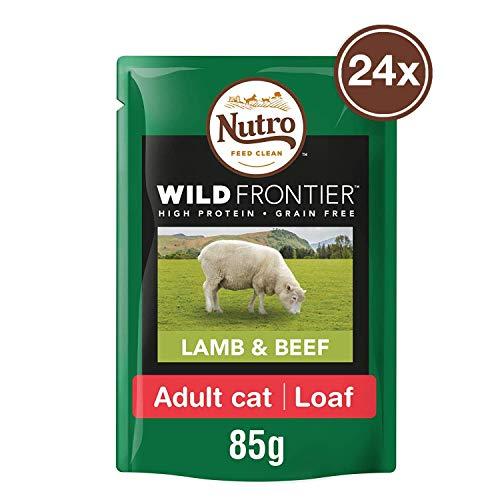 Nutro Katzenfutter Nassfutter Wild Frontier Adult Lamm und Rind in Pastete, 85g (24 Beutel)