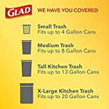 Glad ForceFlex Tall Kitchen Drawstring Trash Bags – Antimicrobial Protection - 13 Gallon White Trash Bag, Clean Citrus Scent – 40 Ct(Package May Vary)
