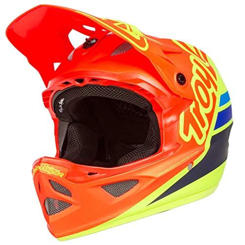 Troy Lee Designs D3 Casque Small Fiberlite Silhouette Orange/Yellow BMX MTB DH Downhill