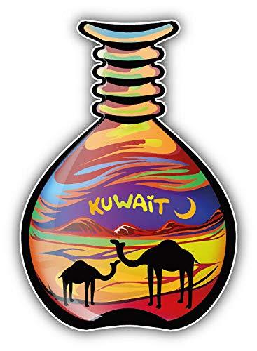 "MAGNET Kuwait Colored Sand Art Bottle Vinyl Magnet Bumper Refrigerator Sticker Magnet Flexible Reuseable Magnetic Vinyl 5"""