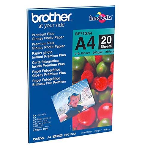 Brother Pack 20Blatt Fotopapier A4260g BP71GA4